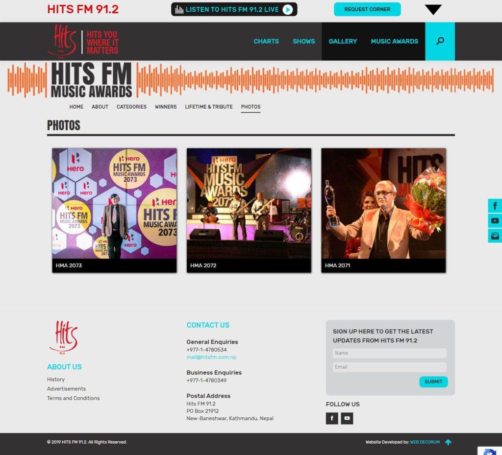 Hits FM homepage