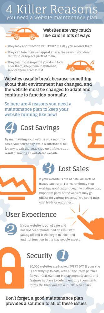 Website Maintenance Infographics